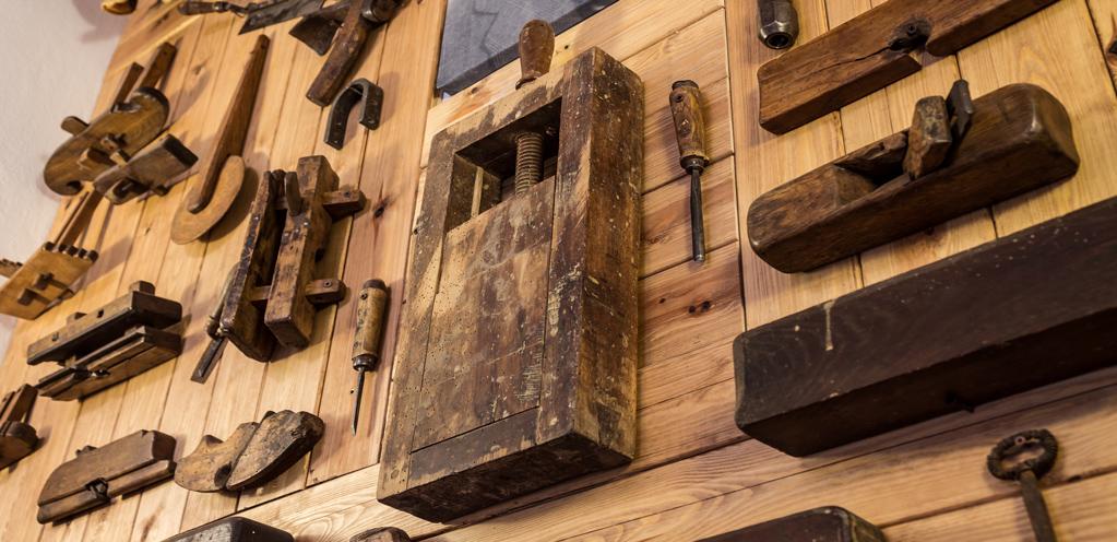 Strumenti falegname antichi